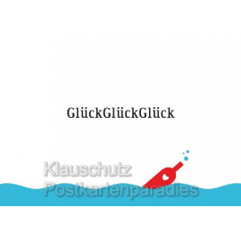 Küstenpost Postkarte von der Küste - GlückGlückGlück