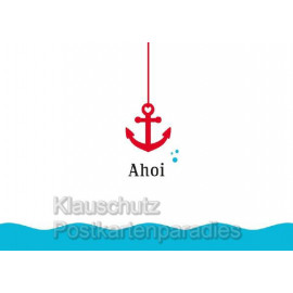Postkarte von der Küste - Ahoi
