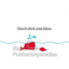 Küstenpost Postkarten - Durch dick und dünn - Chatlab Postkarte mit Wal