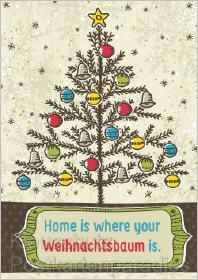 Home is where your Weihnachtsbaum ist - Weihnachtskarten