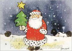Janosch Adventskalender Doppelkarten - Weihnachtsmann