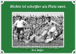 Postkarte Fußball - Platz zwei