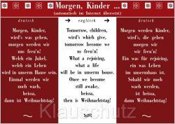 Weihnachtsgedicht übersetzt 15112011