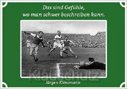 Postkarte Fußball - Das sind Gefühle