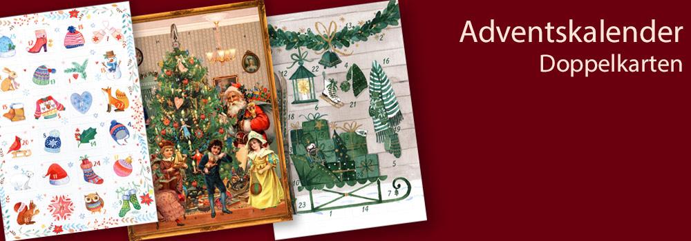 Adventskalender Doppelkarten