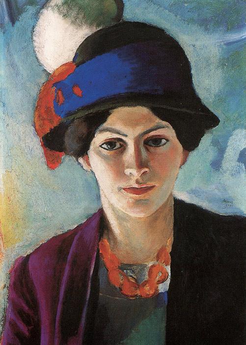 August Macke Bild seiner Frau Elisabeth