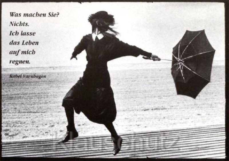 Rahel Varnhagen Postkarte - Das Leben regnen