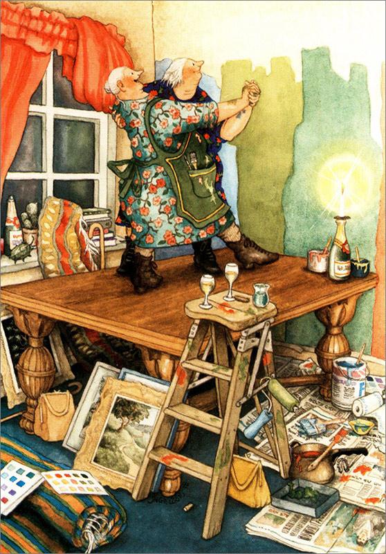 Postkartenmotiv von Inge Löök, Künstlerin aus Finnland