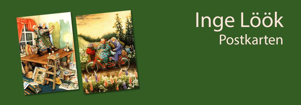 Inge Löök aus Finnland - Postkarte mit alten Frauen