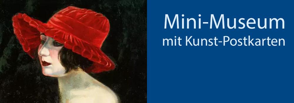 Kunst-Postkarten Mini-Museum