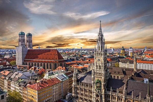 München Stadtansicht mit dem Rathaus