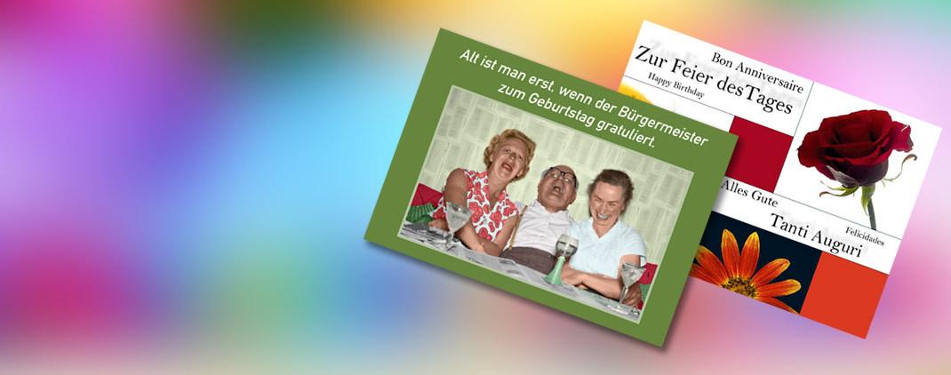 Geburtstagskarten und Postkarten zum Geburtstag